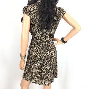 Evan Picone Dresses - Evan Picone Leopard/Animal Print Sheath Dress